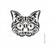 Tribal Kedi Sticker Çınar Extreme