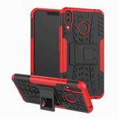 Edelfalke Asus Zenfone 5z Zs620kl Hibrit Silikon Kılıf Kırmızı