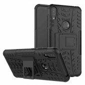 Edelfalke Asus Zenfone Max Pro Zb602kl Hibrit Silikon Kılıf Siyah