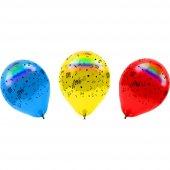 Led Işıklı Balon 4 Adet Temalı Baskılı Led Lambalı Balon Parti