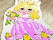 Prınces Prenses 100x160 Pembe Çocuk Odası Halısı Çocuk Oyun Hal
