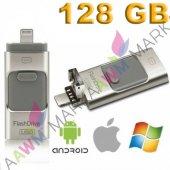 ıphone Flash Bellek Android Micro Usb Otg Pc 128 G...