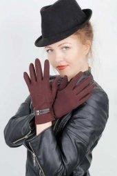 Kahverengi Bayan Dokunmatik Ekran Eldiveni