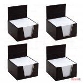 4 Adet Küp Bloknot 500 Yaprak 85x85 Mm Kare1.hamur Beyaz Kağıt