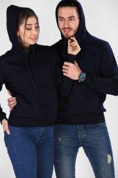 Sevgili Kombinleri Lacivert Sweatshirt Basic Kapüş...