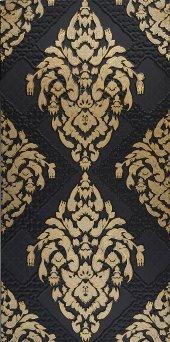 Sa44 Granitto Siyah Zemin Altın İşlemeli 30x60cm Dekor