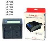 Sony Mc2500 İçin Sanger Np F970 İkili Şarj Cihazı...