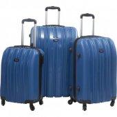 Tutqn Safari Büyük Orta Ve Kabin 3 Lü Valiz Seti Abs Bavul Lacivert