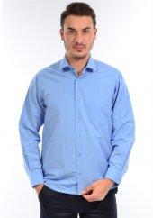 Albertino Erkek Mavi Kompak Klasik Uzun Kol Gömlek