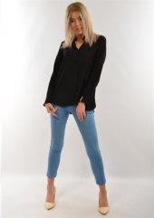 Lenna 10724 Kadın Siyah Gömlek