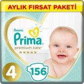 Prima Bebek Bezi Premium Care 4 Beden Maxi Aylık Fırsat Paketi 156 Adet