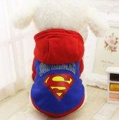 Kedi Ve Köpek İçin Polarlı Süperman Elbise,kıyafet, Xs S M L