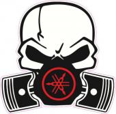 Pıston Iskelet Yamaha Sticker