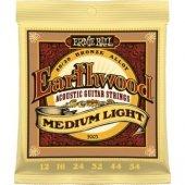 Ernie Ball P02003 Earthwood Medium Light 80 20 Bronze 0.12 0.54 Akustik Gitar Teli