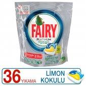 Fairy Platinum 33 Yıkama Bulaşık Makinesi Deterjanı Kapsülü Limon