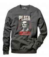 Tshirthane Plata O Plomo Escobar Erkek Uzun Kollu Sweatshirt