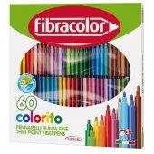 Fibracolor Coloroti Keçeli Kalem Seti 60 Renk Yıkanabilir 2.9mm