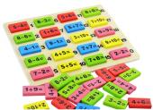Ahşap 110 Parça Matematik Domino Eğitici Geliştirici Zeka Oyunu