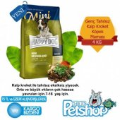 Happy Dog Mini Kuzu Etli Pirincli Kopek Maması 4kg