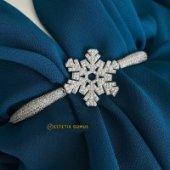 Kar Tanesi Zirkon Taşlı Bayan Gümüş Bileklik