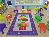 Confetti Game 133x190 Çocuk Halısı Anaokulu Kreş Halısı