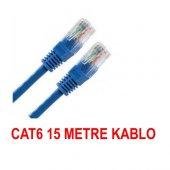 15 Metre Cat6 İnternet Ethernet Kablosu Fabrikasyon Rj45 Bst 2044