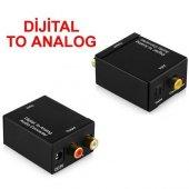 Dijital To Analog Optik Tos Ses Dönüştürücü Çevirici