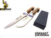Mutfak Bıçak Seti 2&#039 Li Lazoğlu Sürmene Bilezikli Orijinal El Yapimi