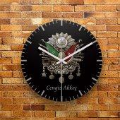 Fmc1325 Kişiye Özel Osmanlı Tuğrası Tasarımlı Mdf Duvar Saati