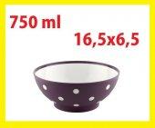 Benekli Renkli Yuvarlak Çerezlik Tabak Kase 750 Ml 16,5x6,5