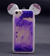 Iphone 6s Plus Mickey Silikon Arka Kapak Mavi + Ekran Koruyucu Te