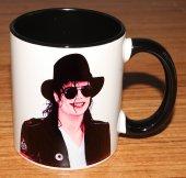 Michael Jackson Baskılı İçi Ve Kulpu Renkli Porselen Kupa