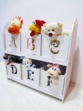 Oyuncak Dolap Oyuncak Kutusu Çocuk Bebek Ahşap (Montessori Ürün)