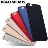 Xiaomi Mi5 Kılıf Süper Slim Fit Mat Silikon Kırılmaz Cam Hediyes