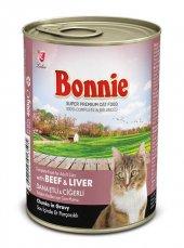 Bonnie Biftek Ve Ciğerli Konserve Kedi Maması 400g
