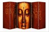 Buddha Kanvas 6 Kanat Paravan