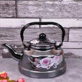 Paçi Küçük Emaye Çaydanlık Çiçek Desenli