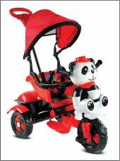 Babyhope 127 Little Panda Üçteker Bisiklet Oyuncak Sepetli Müzikli Kirmizi