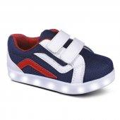 Sanbe 26 30 Işıklı Cırtlı Erkek Spor Ayakkabı Lacivert