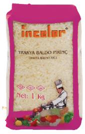 Inceler Trakya Baldo Pirinç 1 Kg