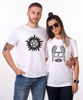 Tshirthane Angel Hunter Sevgili Kombini Tişörtleri