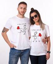 Tshirthane Love With Sevgili Kombini Tişörtleri