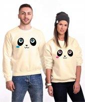 Tshirthane Panda Gözler Sevgili Kombinleri Sweatshirt