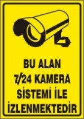 Bu Alan 7 24 Kamera Sistemi İle İzlenmektedir Uyarı Levhası 35x50 Cm Dekota