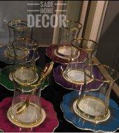 Sadehomedecor Lucky Art Glamour 6 Lı Çay Seti