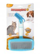Eastland Mavi Saplı Kedi Köpek Tüy Temizleme Fırçası Large 12,5x7