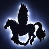Led Işıklı Renkli Baskı Pegasus Büyük Boy Işıklı Tablo Led Pano