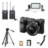 Sony A6300 16 50mm Kit Profesyonel Youtuber Seti