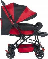 Baby Kırmızı Bebek Arabası Tam Yatarlı Bebek Arabası
