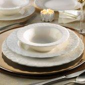 Kütahya Porselen Bone Basak 24 Parça 6 Kişilik Yemek Takımı